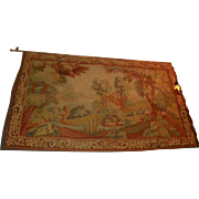 French Aubusson Tapestry.  Circa 1850