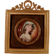 French Miniature Painting.  Circa 1920