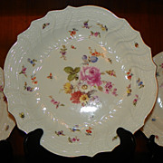 Circular Scalloped Bowl Meissen Porcelain
