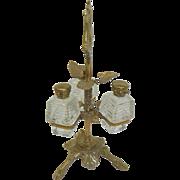 European Gilded Triple Perfume. Circa 1900.
