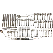 Large Lot of Gorham Lansdowne Sterling Silver, 89 Pieces, Service 7 Plus