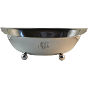 Oval Footed Sterling Silver Bowl Mid 20th Century