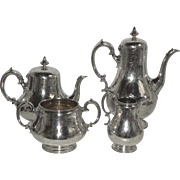 English Sterling Tea Set London 1860