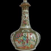 Chinese Rose Medallion Water Bottle.  Circa 1860