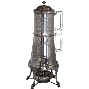 Rare Antique Victorian Silverplate Coffee Press. 1878 Registry.