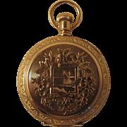 Lady's Waltham Pocket Watch. 14k Hunter Case