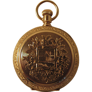 Lady's Waltham Pocket Watch. 14k Hunter Case