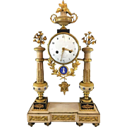 French Louis XVI/Directoire Mantle Clock, Piolaine Paris, circa 1800