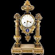 French Louis XVI/Directoire Mantle Clock, Piolaine Paris, circa 1800