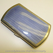 Antique Secessionist Georg A. Scheid Silver Guilloche Enamel Card Case/Box