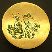 Antique Chinese Qing Copper Brass Enamel Scholar Paktong Box