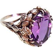 Arts Crafts Bernard Instone Antique Sterling Silver Amethyst Ring c.1910