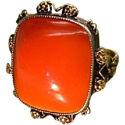 Antique Kate M.Eadie Pupil of Arthur Gaskin British Arts and Crafts Nouveau Era Silver Gold Carnelian c.1910 Fine Jewelry Rare Exclusive Collectable