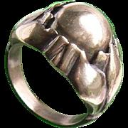 Georg Jensen 1930's Danish Sterling Silver Lotus Lady's Ring