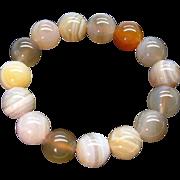 Fine Natural Agate Orbs Bracelet Unique Colours Chinese