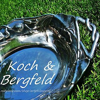 Antique Art Nouveau Koch & Bergfeld Silver Repoussé Dish/Tray c.1900 Terrific!