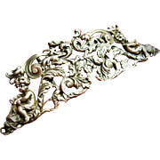 Antique Kerr Sterling Silver Belt Buckle Late Victorian