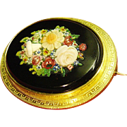Rare Antique 18k Gold Italian Micromosaic Brooch Pendant Georgian c.1830 Handmade Art Jewelry Dimensional Micro Mosaic Mini Tesserae