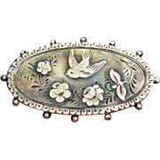 1890 Antique William Comyns Handmade Sterling Silver Brooch/Pin Aesthetic Movement Victorian