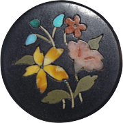 Lovely Victorian Genuine Stone Pietra Dura Brooch