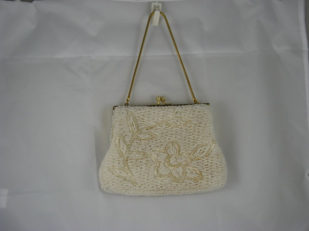 mister ernest simon small white beaded purse sold on ruby