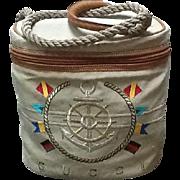 VIntage Gucci Nautical Themed Embroidered Handbag