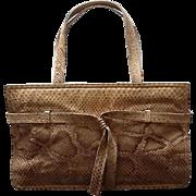 Vintage Harry Rosenfeld Large Python Bag