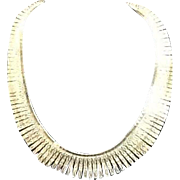"Vintage Sterling ""Cleopatra"" Bib Necklace"