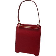 Vintage DeMarly Red Leather Handbag