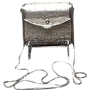 VIntage Leiber Minaudiere with Swarovski Crystals and Shoulder Chain