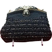 Vintage Beaded and Enameled French Evening Bag