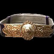 VIntage Leiber Belt with Huge Decorative Buckle