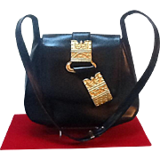 VIntage Leiber Day Handbag with Outrageous Statement Ornamentation
