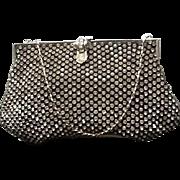 "Vintage Rhinestone Evening Bag with ""Deco"" Clasp"