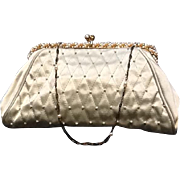 """VIntage """"Revivals"""" Evening Purse with Mid Century Faux Pearl Frame *** NEVER USED***"""