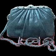 Vintage Judith Leiber Karung Handbag with Jeweled Ornate Frame