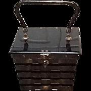 VIntage Dorset-Rex Woven Chrome Handbag with Lucite