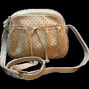 Vintage Judith Leiber Leather Shoulder Bag with Studs
