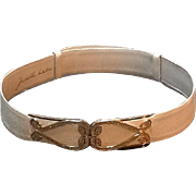 Vintage Leiber Lizard Belt with Swarovski Crystals