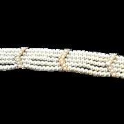 Vintage CINER Faux Pearl Multi Strand Bracelet