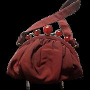 Vintage Ingber Funky Handbag with Bakelite Frame