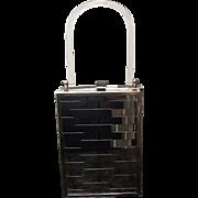 Vintage Mid Century Chrome Handbag