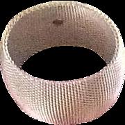 Vintage Hattie Carnegie Wide Mesh Bangle Bracelet