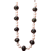 Vintage YSL Striking Faux Pearl and Bead Necklace