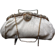 VIntage French Beaded Evening Purse with Ornate Frame