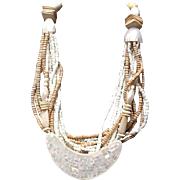 VIntage Gerda Lynggaard/Monies Multi Strand Necklace with MOP ***Signed***