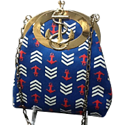 Vintage Harry Levine Nautical Themed Handbag with Anchor Emblem *** Near MINT***