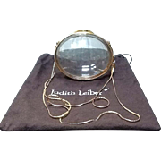 Vintage Leiber Clear Lucite Egg Purse with Gold Tone Accents