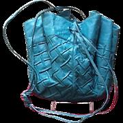 Vintage Leiber Drawstring Bucket Handbag