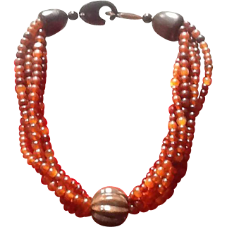 VIntage Gerda Lynggaard Monies Choker Necklace
